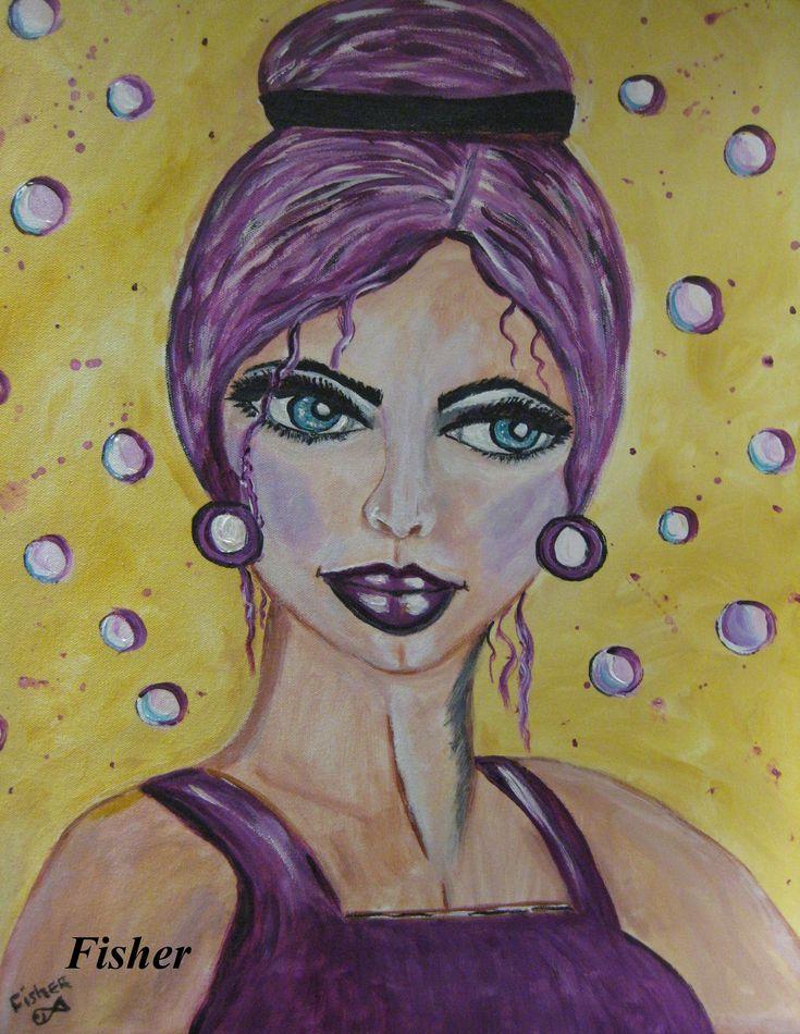 Rosita acrylique 24 x 18 artiste: Louise Fisher Sanscartier