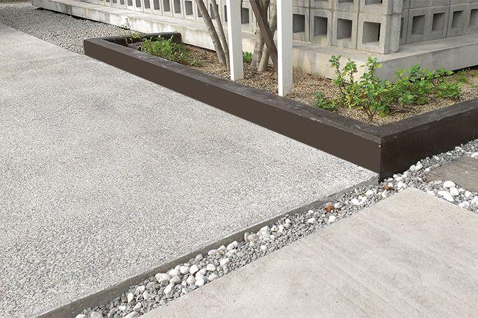 洗い出し駐車場土間 カーポート 駐車場 庭 リフォーム 庭 外構