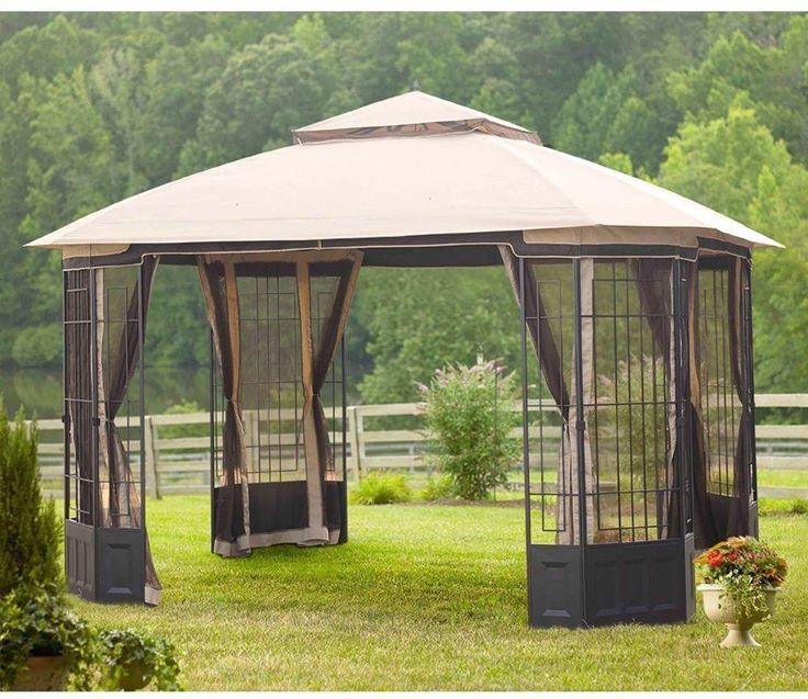 Hampton Bay Gazebo 12 ft. x 10 ft. Outdoors Garden Patio Wedding Party Tent NEW #HamptonBay