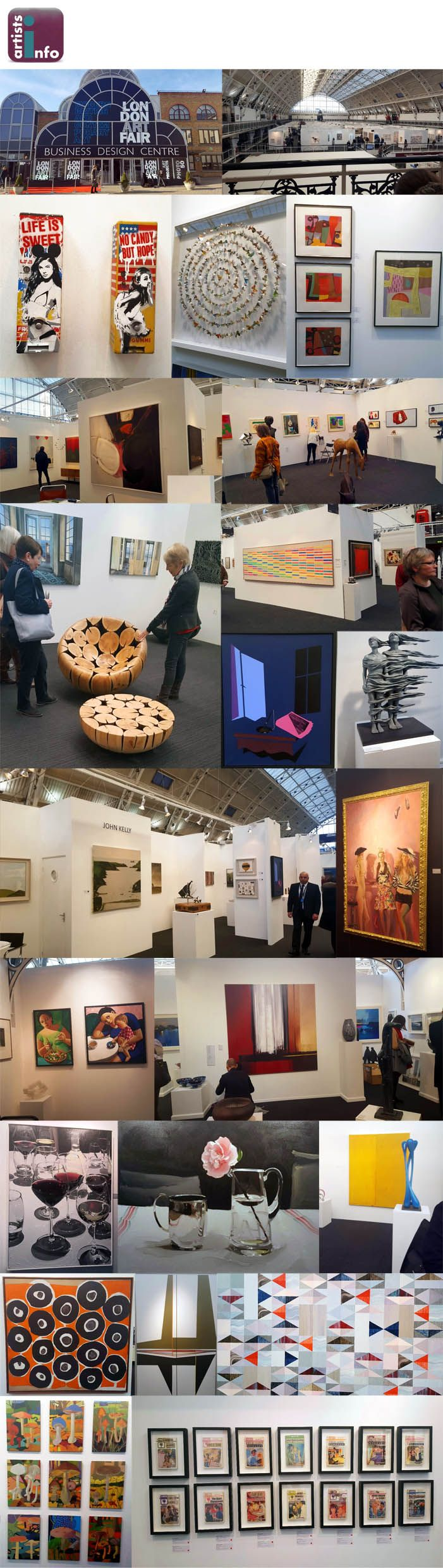 Artists Info's Melanie and Jean had a great day out at the London Art Fair at the Business Design Centre in Islington last week. There was a huge array of fantastic artwork on display and lots of lovely red dots! Here are some of their highlights from the show… www.artistsinfo.co.uk Global Artist Guide