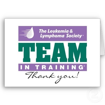 Team in Training Thank you note Cards
