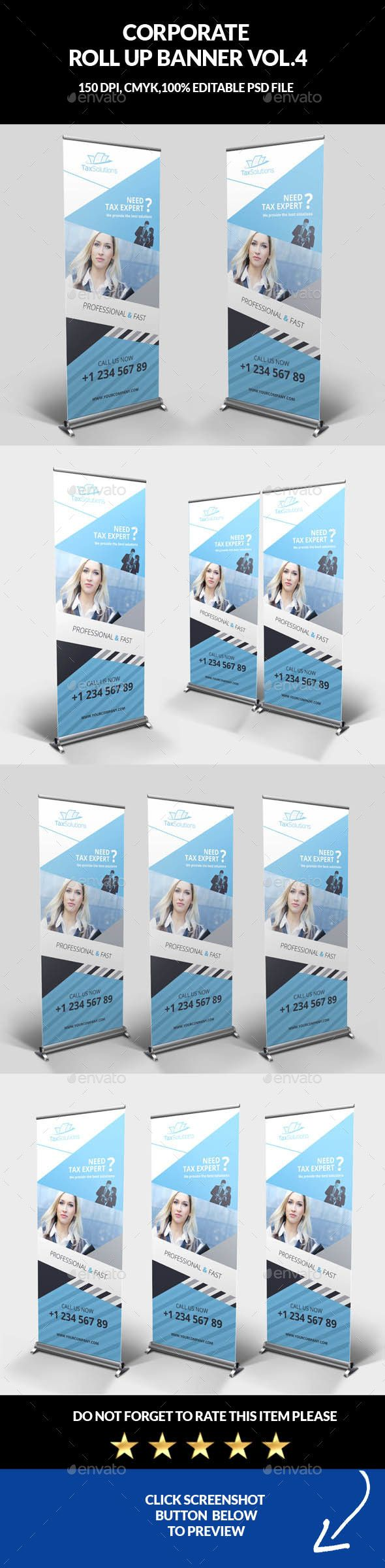 Best Retractable Signs Images On Pinterest Brochures Print - Retractable banner template