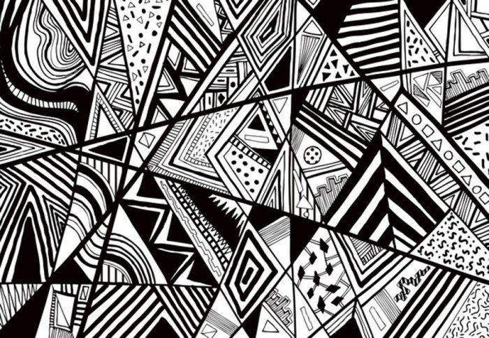 art-design-pattern-monotone-black-white-graphic-vector-illustration-crazy-design-unique-textiles-vasare-nar-society6-monotone-lines-drawing-tumblr-facebook-cover-image