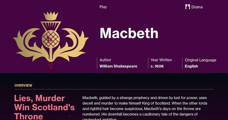 an analysis of the character of macbeth in william shakespeares tragedy macbeth The macbeth characters covered include: macbeth, lady macbeth, the three   unlike shakespeare's great villains, such as iago in othello and richard iii in.