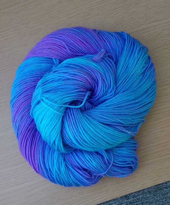 Ready to ship!  Colorway - Bluish (royal blue, hint of violet)  4-ply fingering…