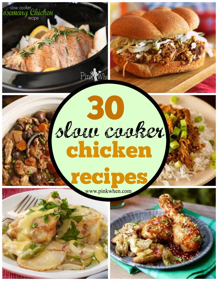An awesome roundup of 30 amazing CHICKEN Slow Cooker recipes.