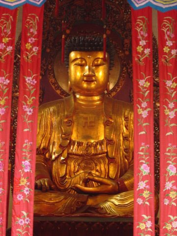 Gold and red Buddha