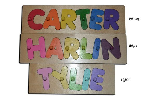 Funky Fonts Personalized Wooden Name Puzzles Child's Name, Custom Made Puzzle Great Birthday, Easter, Christmas Gifts id222794631