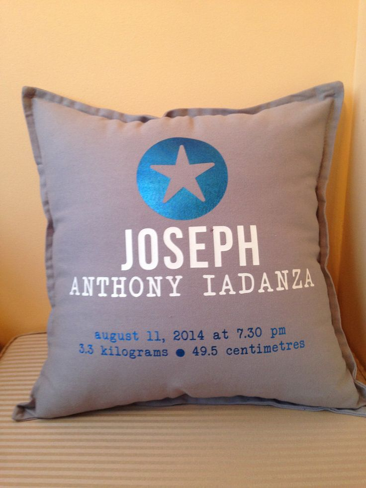 SUPER star custom BABY BOY birth announcement pillow for New Borns, the perfect gift for new parents and keepsake.. by louiseexclusivelyyou on Etsy