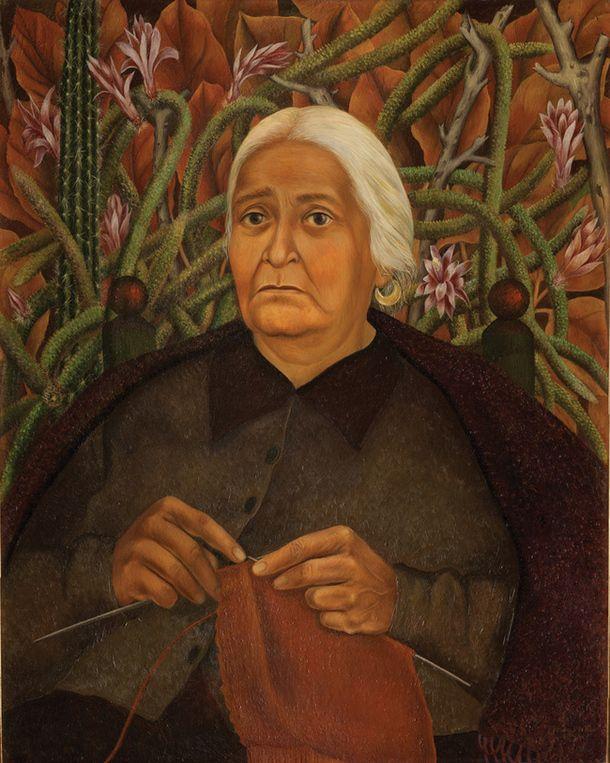 Портрет доньи Роситы Морийо, 1944. Мазонит, масло. Музей Долорес Олмедо.