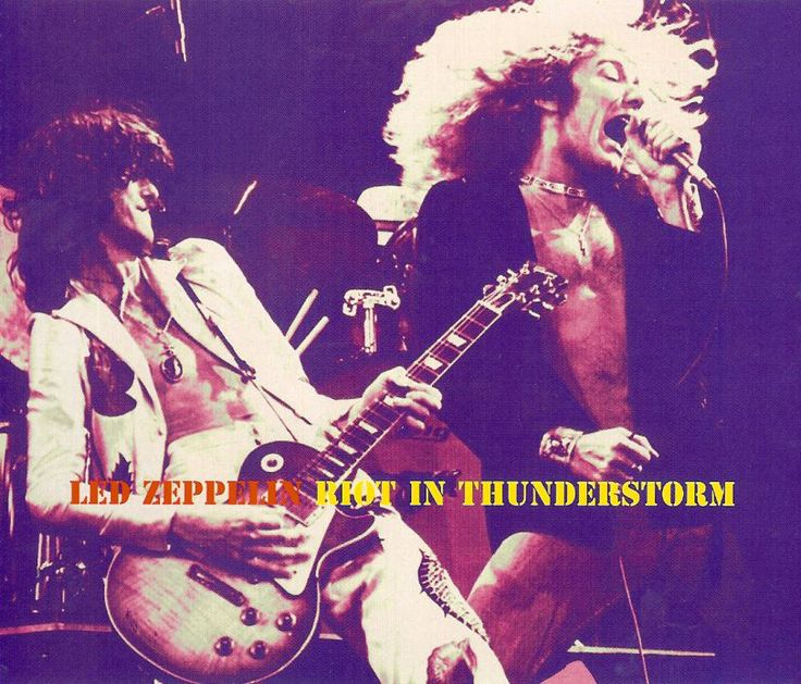 Led Zeppelin Riot In Thunderstorm June 10 1977 At Madison Square Garden New York New York