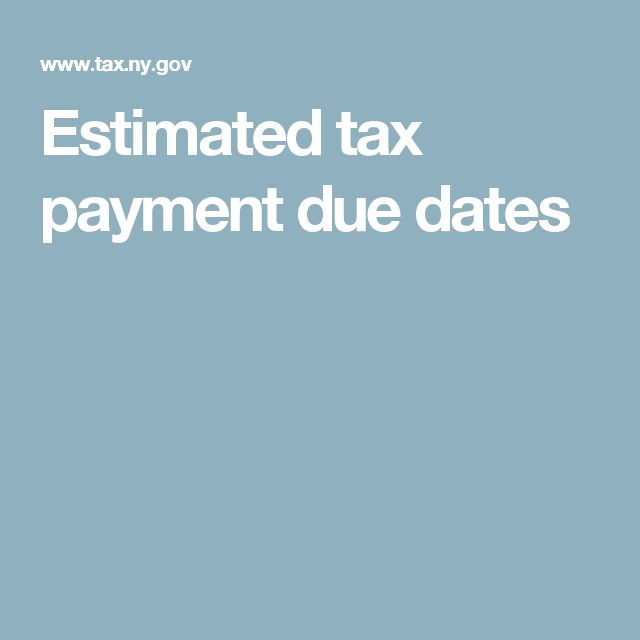 Estimated Tax Payment Due Dates  Be Your Own Boss