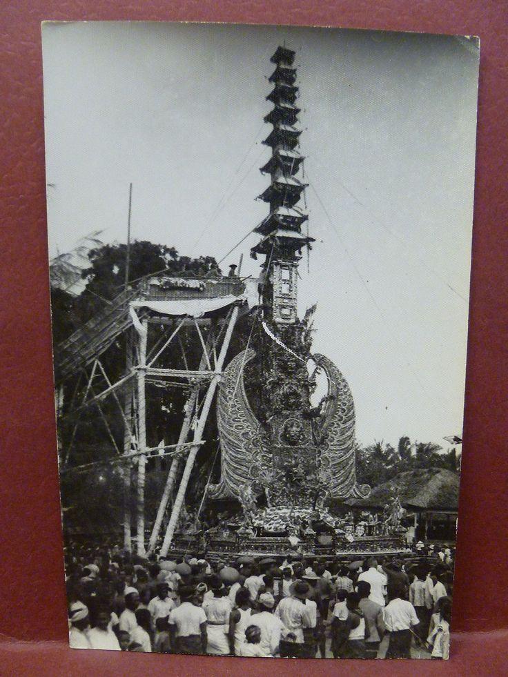 Old Real Photo Postcard RPPC Cremation Bali, Indonesia nl.picclick.com