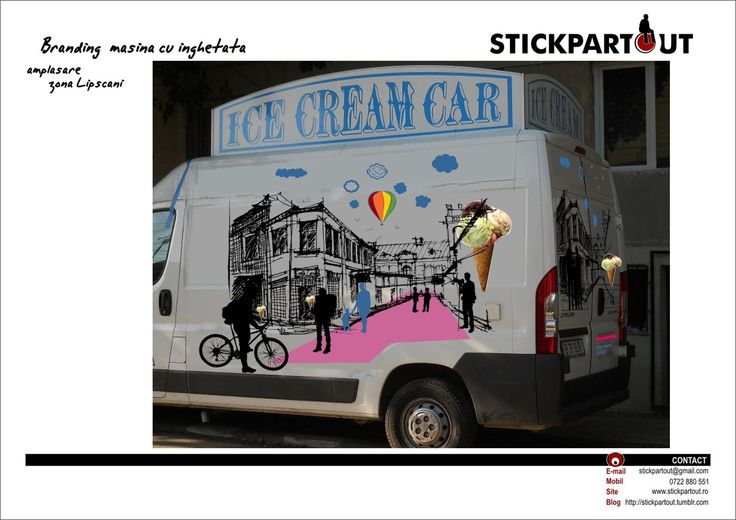 STICKPARTOUT // Branding for The Ice Cream Car - proposal -
