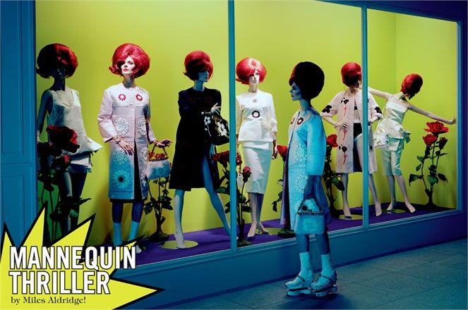 March 2013, Mannequin thriller. Photos by Miles Aldridge - click on the photo to see the complete story and backstage video