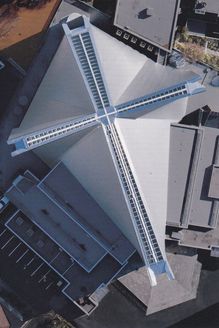 St. Mary's Cathedral from above--isn't this magic?  Kenzo Tange, architect