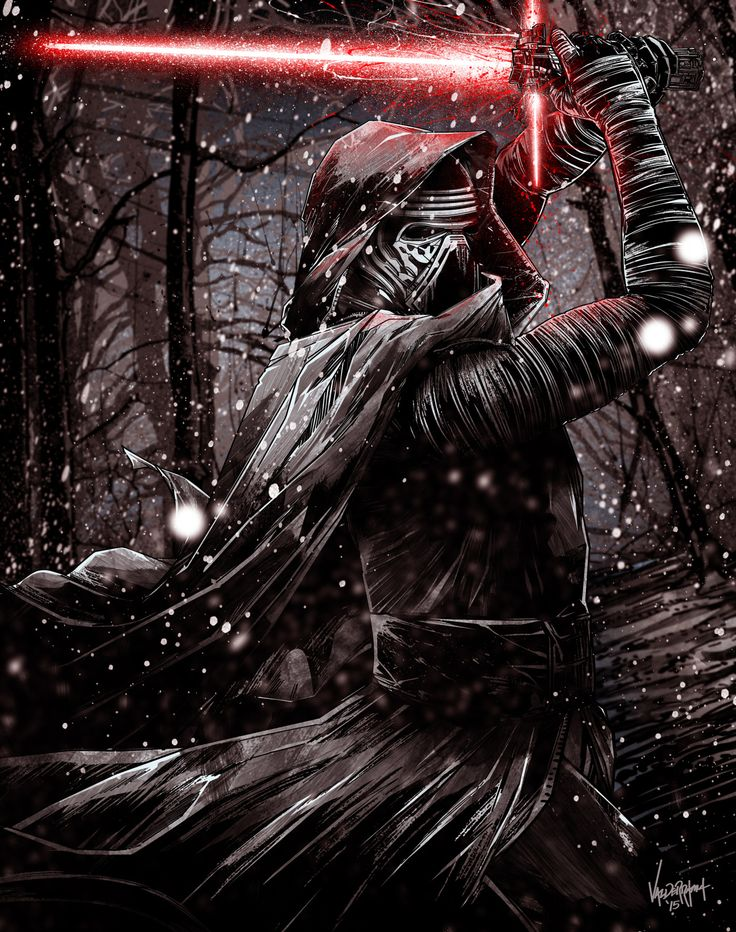 """freshdoodle: """"""""Kylo Ren"""" Still haven't seen the movie yet since all you fanatics beat me to early tickets! =p For now I'm just going to jump in the Episode 7 fanart bandwagon with this bad boy! Still..."""