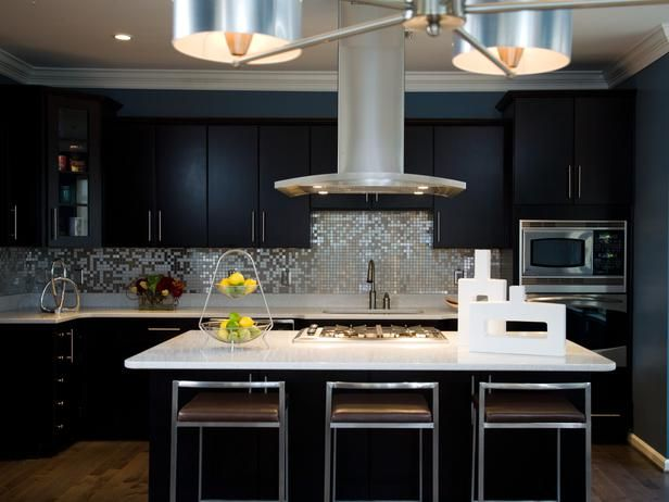 Brushed Aluminum Chandelier Silestone Countertops Made With Crushed Pieces Of Mirror In It A