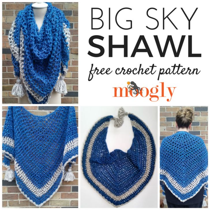 Big Sky Shawl - free crochet pattern on Mooglyblog.com!
