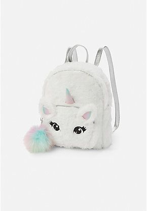 d840cd9609 Unicorn Faux Fur Mini Backpack