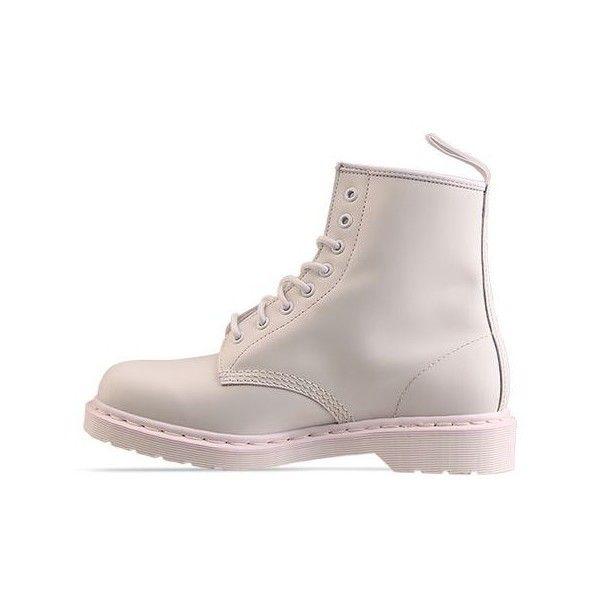 Doc Martens Mens - 8 Eye Boot ($120) ❤ liked on Polyvore featuring mens, men's shoes, men's boots, shoes, boots, botas, flats and white