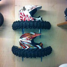 Motorbike tyre shelf