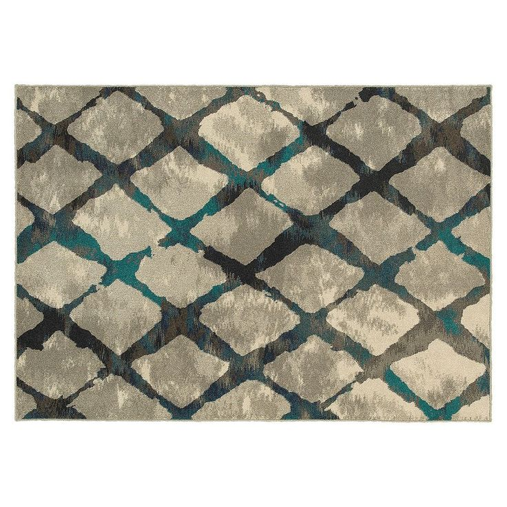 StyleHaven Harrison Stepping Stones Trellis Rug, Grey