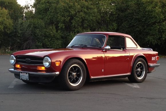 1973 Triumph TR6 Roadster For Sale Overdrive Hardtop Front