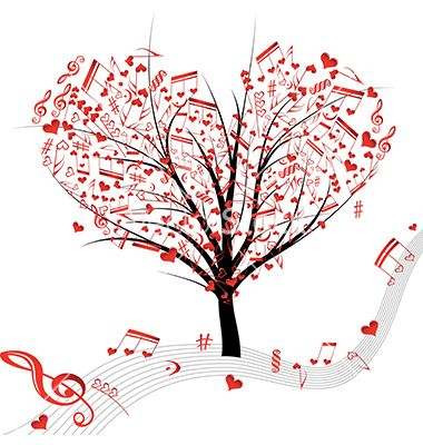 This is a very unique imagery of love and music.