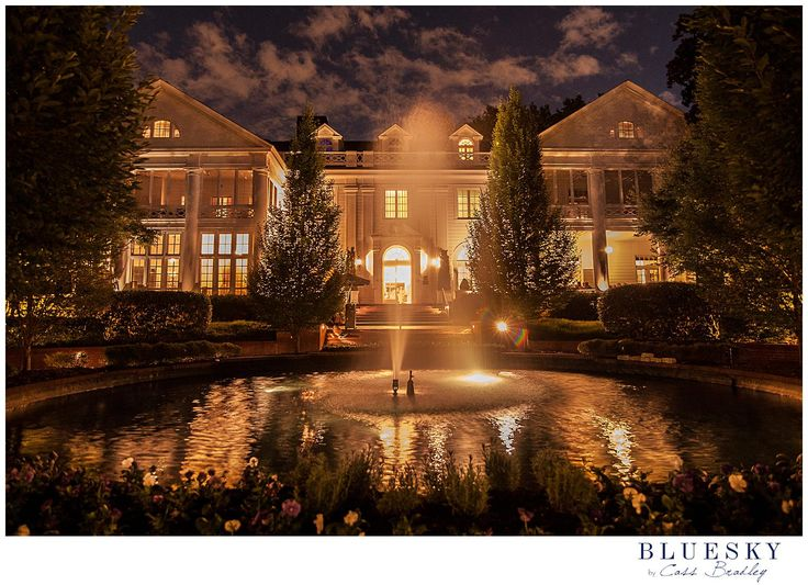 Might View Of Duke Mansion Charlotte NC Outdoor Wedding Venue By Weddingsbycassbradley