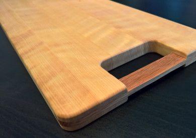 Cuttingboard I made at school, birch and oak.