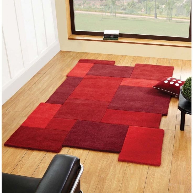 Passion Abstract Design Unique Rug by Ultimate Rug Brighten up the busiest area of your home with this Passion Abstract Design Unique Rug by Ultimate Rug. #modernrugs #redrugs #luxuryrugs #woolrugs #handmaderugs #redwoolrugs