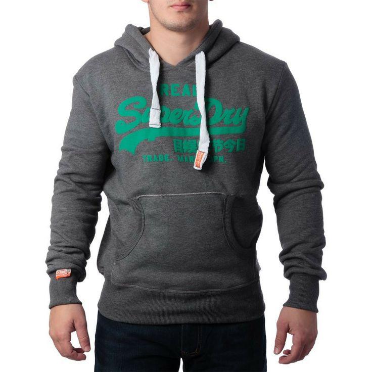 """Ανδρική Μπλούζα Hoodie """"Super Dry """" Real - Γκρι http://brands4all.com.gr/collections/mens-sweatshirt/products/hoodie-super-dry-real-1"""