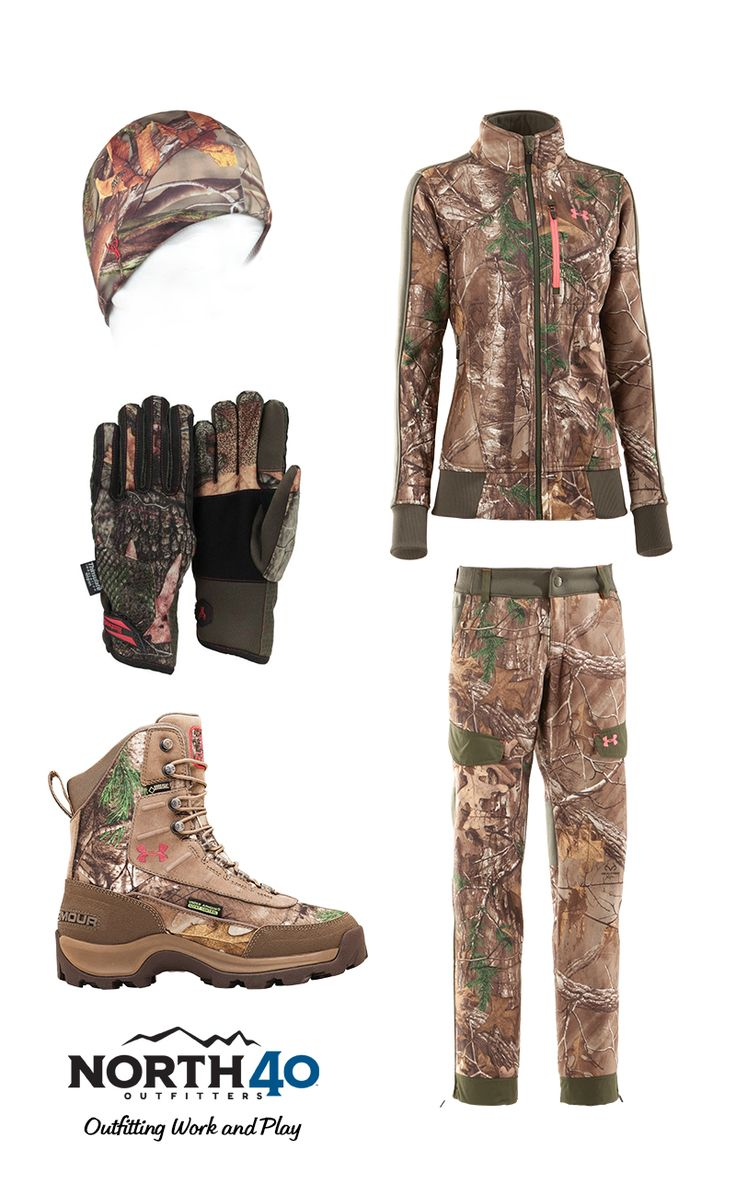 For the women who love hunting, we've got the gear. Underarmour jacket + pants + boots. Not available in all stores. #N40 #yourlocal40