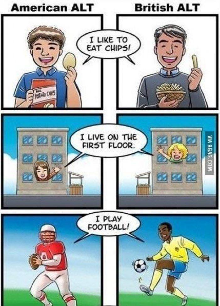 Comic American Alt British Meme Collection