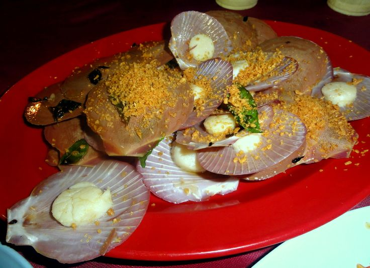 Garlic Scallops at the Portuguese Village in Malacca.