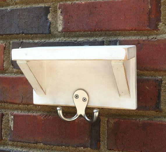Primitive Dog leash Holder Shelf   Shabby  Entry Way Foyer Key Hook on Etsy, $19.00