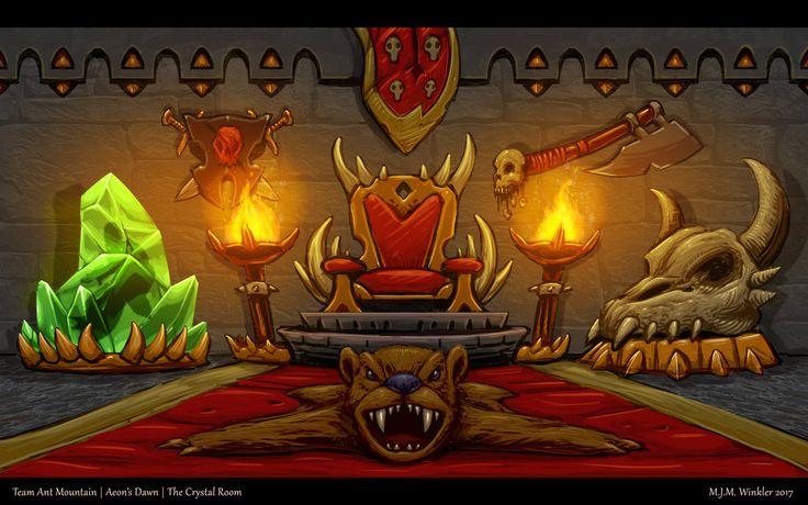 Crystal Throne Room by MisterBlackwood.deviantart.com on @DeviantArt