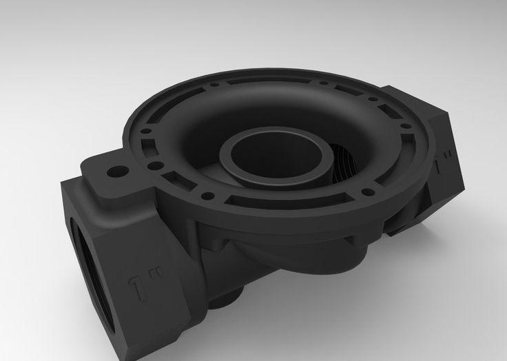 "Válvula Hidráulica 1"" para Irrigação - STEP / IGES - 3D CAD model - GrabCAD"