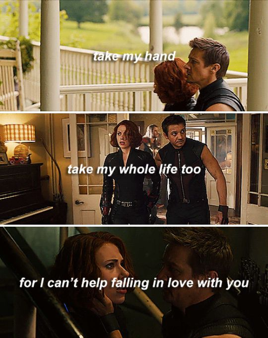 i can't help falling in love with you. #marvel