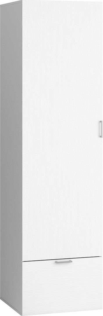 Cechy i korzyści: Szafa z 4 półkami, z możliwością regulowania ich wysokości. Dolna szuflada na prowadnicy Quadro. Dobre uzupełnienie dużej szafy w garderobie. Drzwi szafy wyposażone w system Silent ...