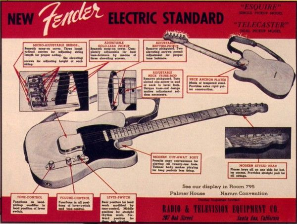 "Fender Telecaster ""New Fender Electric Standard"" (1950s)"