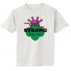 girl scout troop shirts customizable trefoil crown gs115
