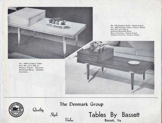 Bassett Furniture Denmark Occasional Tables Brochure, 1950u0027s