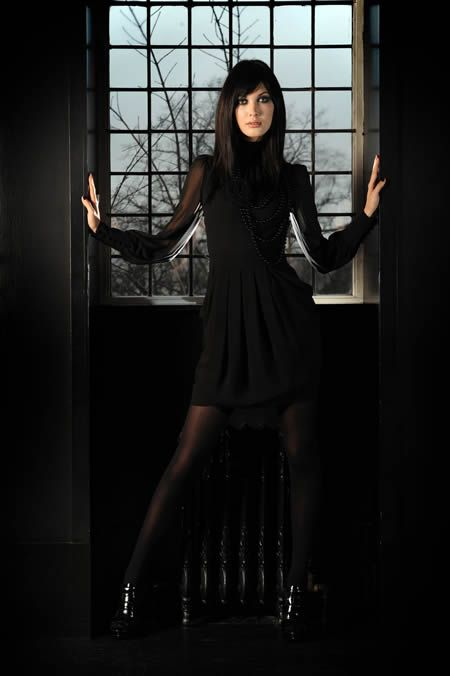 I love this because it Gothic and professional flare together.  Gothic Fashion - The Daily Record - Julie Hannah's Fashion Fix