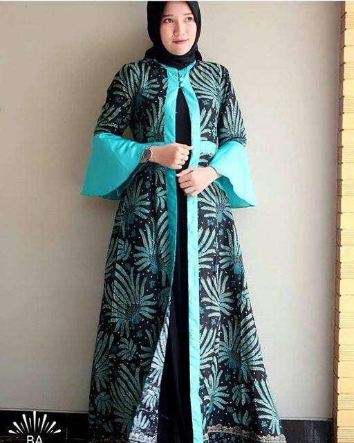 Model Gamis Batik Bolero Abaya Style Di 2019 Pakaian Islami