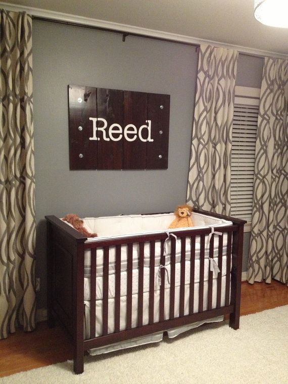 Industrial Name Wall Hanging. So cute for baby boy nursery