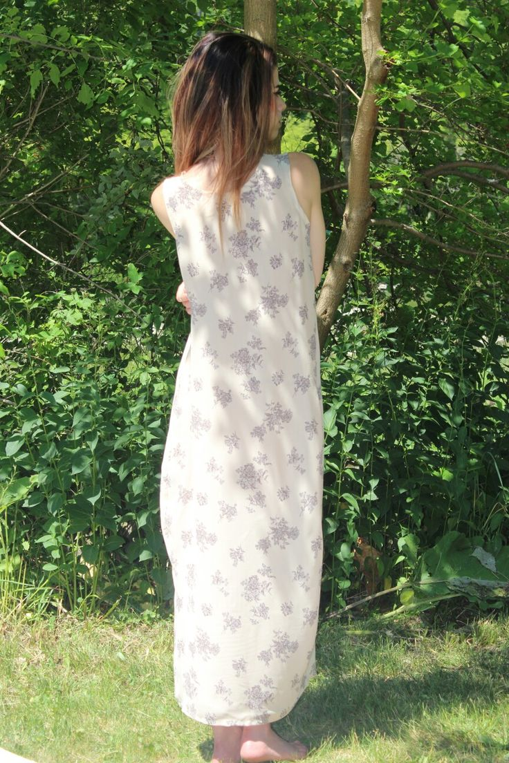 One of a kind Floral print, chiffon, throw & go dress. Available on etsy, in the JESclothes shop. Check it out!!
