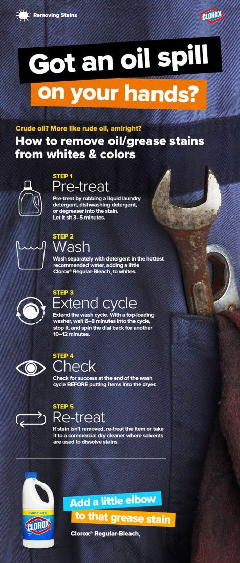 16 best essential stain remover tips images on pinterest for How to remove motor oil stains from clothes