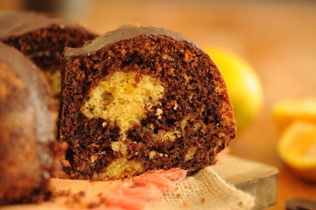 Dulcinea: Queque Marmol de Chocolate y Naranja